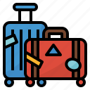 baggage, luggage, suitcase, traveling icon