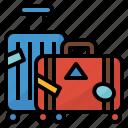 baggage, luggage, suitcase, traveling