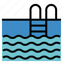 exercise, pool, swimming, water icon