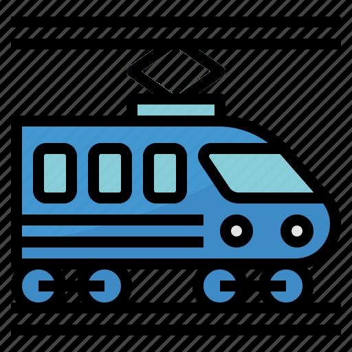 public, railway, subway, train, transport icon