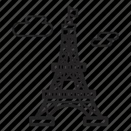building, construction, eiffel, france, paris, real, tower icon