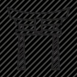 abode, bird, gate, japan, japanese, samurai, torii icon