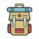 backpack, bag, rucksack, transportation, travel, vacation icon