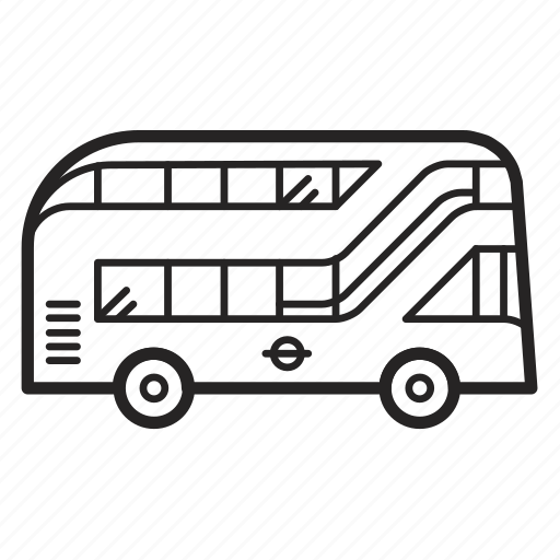 auto, bus, doubledecker, london, transport, transportation, travel icon