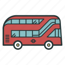 bus, doubledecker, london, transport, transportation, travel, vehicle icon