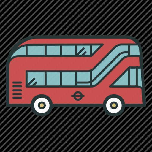 bus, doubledecker, london, transport, transportation, travel, vehicle icon