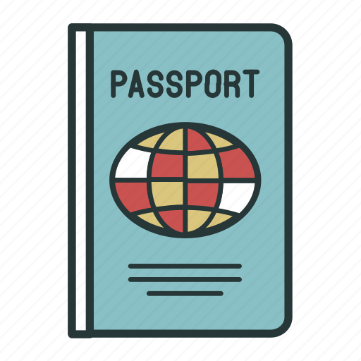 document, documents, identification, passport, travel icon