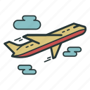 aeroplane, airplane, flight, fly, plane, transport, travel icon