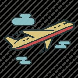 aeroplane, airplane, flight, fly, plane, transport, travel icon