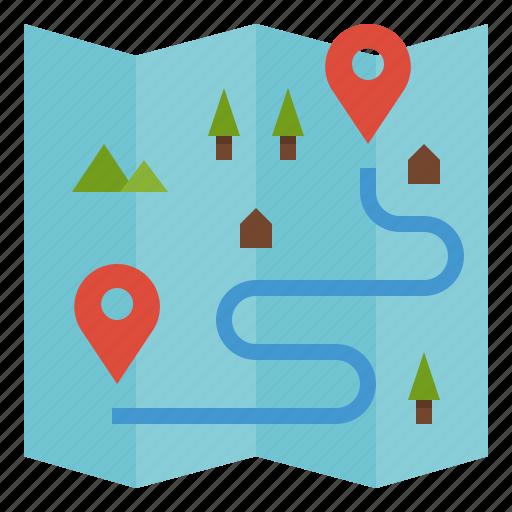 Destination Direction Location Map Plan Icon
