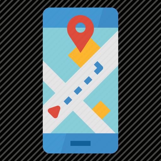 App, destination, location, map, navigation icon - Download on Iconfinder