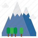 mountain, nature, peak, camping, adventure
