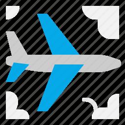 airplane, flight, fly, transport icon