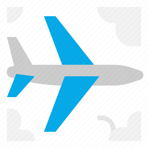 Fly, airplane, flight, transport icon