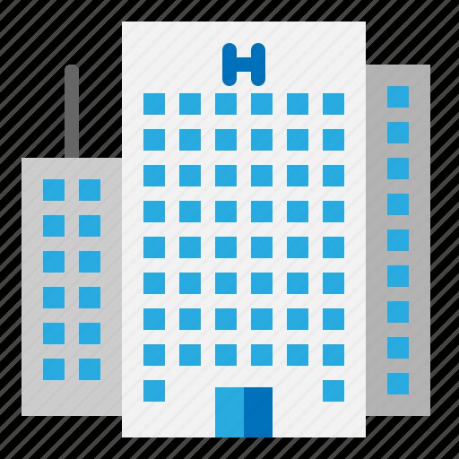 architecture, building, city, construction, hotel icon