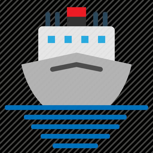 boat, cruise, sea, ship, tour, travel icon