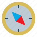compass, journey, orientation, survival icon