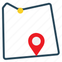 distance, location, map, navigation, pointer