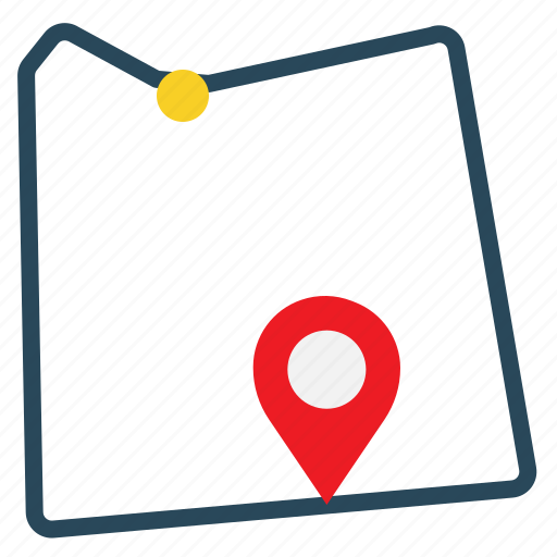 distance, location, map, navigation, pointer icon