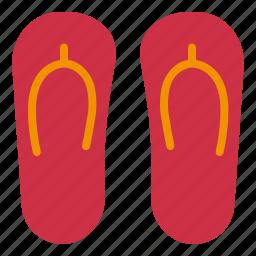 flip, flops, footwear, slippers, wear icon