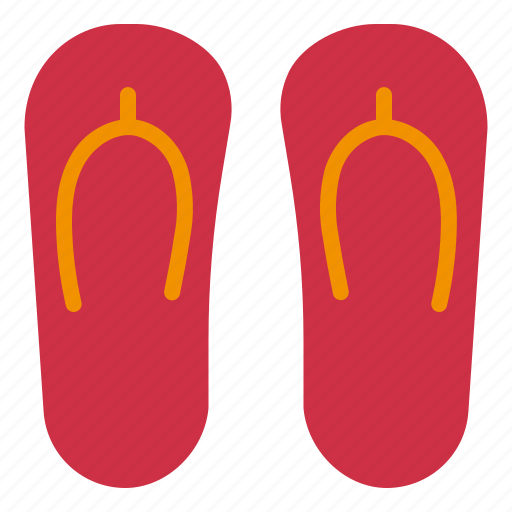Flip, flops, footwear, slippers, wear icon - Download on Iconfinder