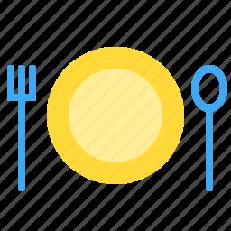 eat, food, restaurant, setting, table icon