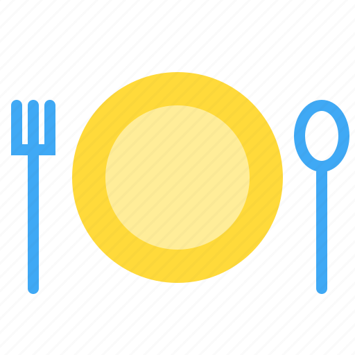 eat, food, restaurant, setting, table icon