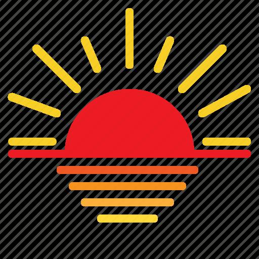 Weather, sunset, forecast icon