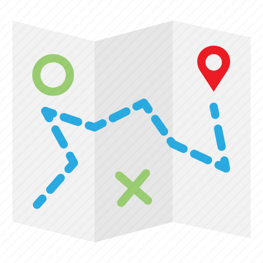 Map, pin, location, brochure, position, navigation icon
