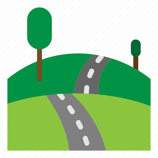 road, route, traffic, travel icon