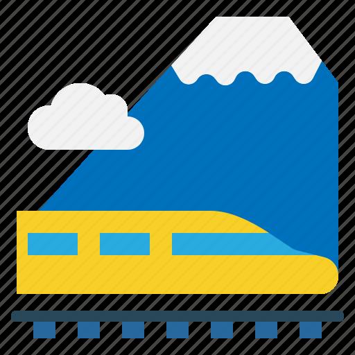 Tram, tunnel, railroad, train, transport icon