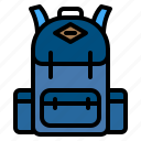 adventure, backpack, backpacker, bag icon