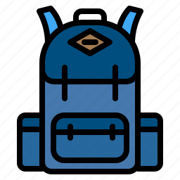 adventure, backpack, backpacker, bag icon