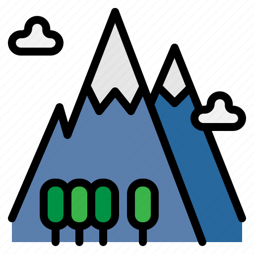 adventure, camping, mountain, nature, peak icon