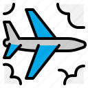 airplane, flight, fly, transport icon