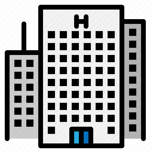 architecture, building, city, construction, hotel icon