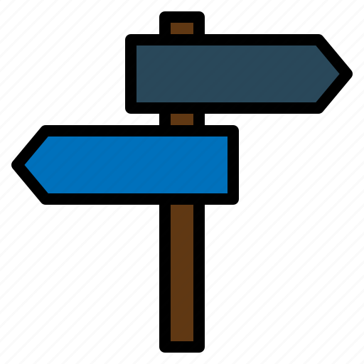 arrows, direction, guidepost, location, signpost icon