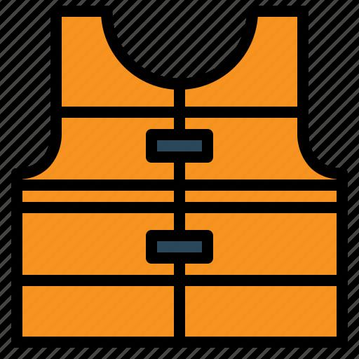 jacket, life, safety, vest icon