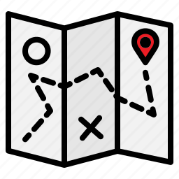 brochure, location, map, navigation, pin, position icon
