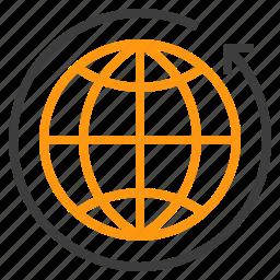 arround, holiday, travel, trip, vacation, world icon