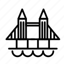 break, bridge, city, travel, trip icon