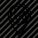 earth, globe, pin icon