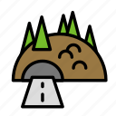 road, tunnel icon