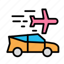 air, car, plane, travel, trip icon