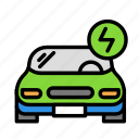 electriccar, travel, trip icon