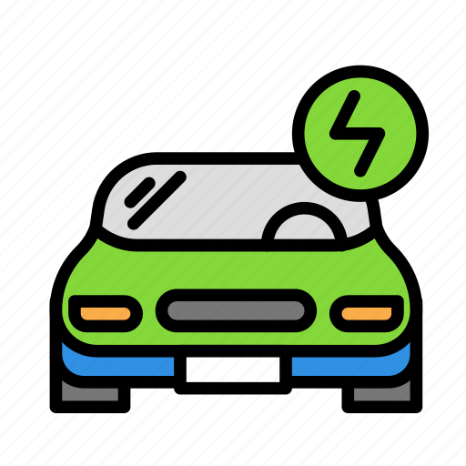 electriccar, travel, trip icon