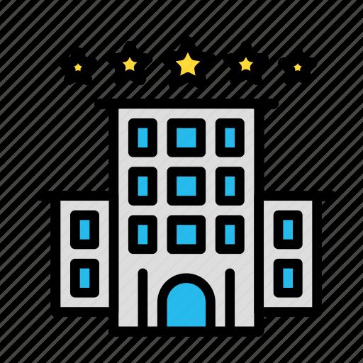 hotel, motel, room icon