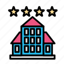 booking, hotel, motel, room, trip icon