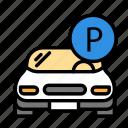 car, park, parking icon