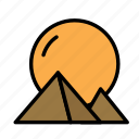 egipt, mistery, pyramids icon
